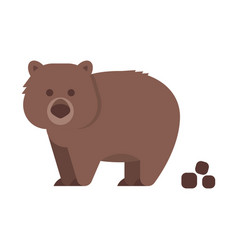 Flat style of wombat vector