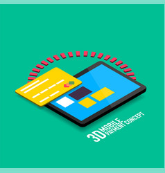 Mobile internet payment concept with tablet vector