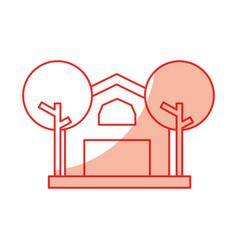 Farm stable building icon vector