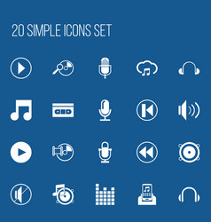 Set of 20 editable melody icons includes symbols vector