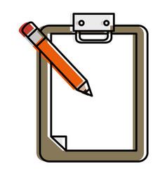 checklist clipboard with pencil vector image