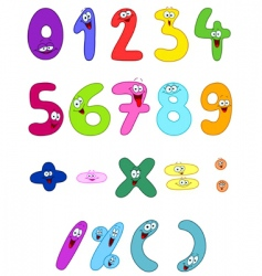 Cartoon numbers vector
