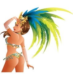 Carnival dancer vector