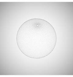 3D sphere of particles vector image