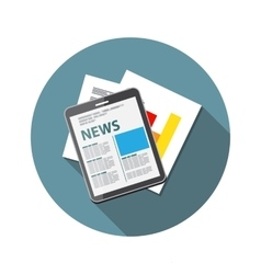 Online news  flat computing vector