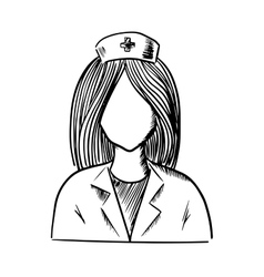 Doctor or nurse icon sketch vector