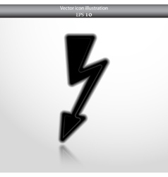 Lightning web flat icon vector