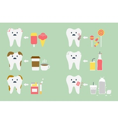 Set of teeth problem vector