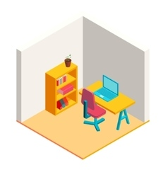 Colorful isometric office vector