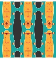 Longboard poster on a colored background vector