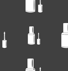 Nail polish bottle icon sign seamless pattern on a vector
