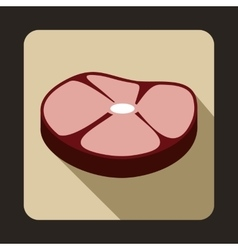 Steak icon flat style vector