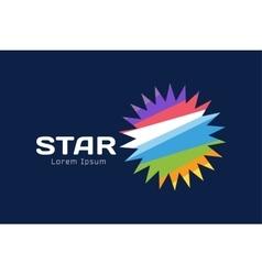 Abstarct sun logo icon template vector