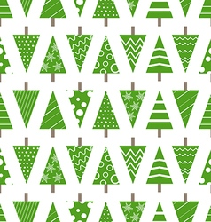 Abstract christmas trees seamless background vector image vector image