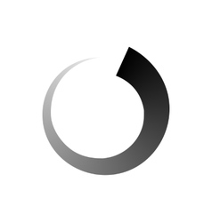 Abstract geometric circle icon simple style vector