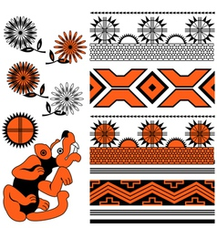ancient american ornaments vector image