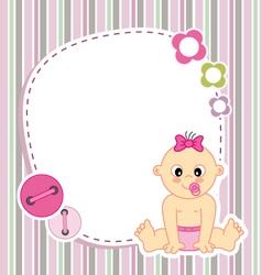 Baby girl card vector image