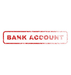 Bank account rubber stamp vector