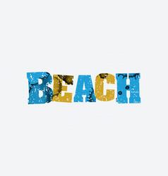Beach concept stamped word art vector
