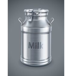 can container for milk vector image vector image