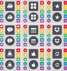 Car apps star chat bubble calendar dropbox ship vector