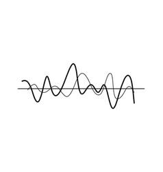 chaotic wavy lines icon vector image vector image