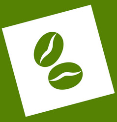 Coffee beans sign white icon obtained as vector