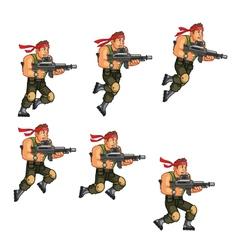 Commando jumping game sprite vector