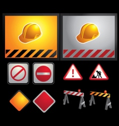 constructions signs vector image vector image