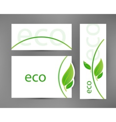 Eco banners templates vector image