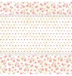 Floral vintage background vector image