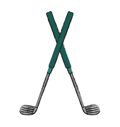 Golf club icon image vector