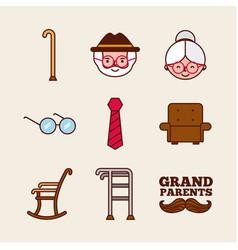 Grandparents design vector