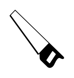 Handsaw tool isolated icon vector