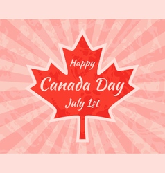 Happy canada day on maple leaf vector