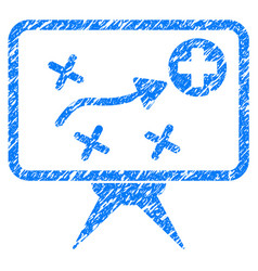 Health strategy grunge icon vector