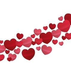 Hearts love flying decorative wallpaper design vector