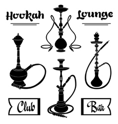 Hookah labels set vector