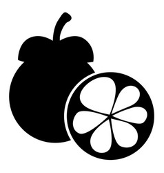 Mangosteen fruit image vector