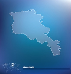 Map of Armenia vector image vector image