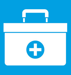 Medicine chest icon white vector