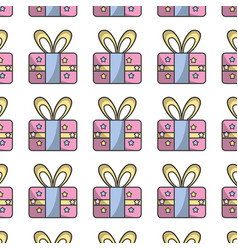 Present gift to celebrate special day background vector