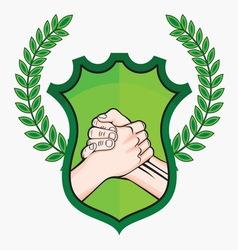 Rukovanje laurel zeleno vector