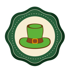 Sticker hat accessory st patrick vector