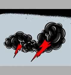 thundershower vector image vector image