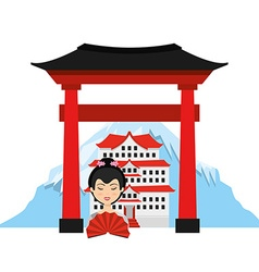 travel japan vector image