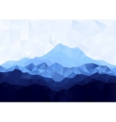 Triangle geometrical background with blue mountain vector image vector image