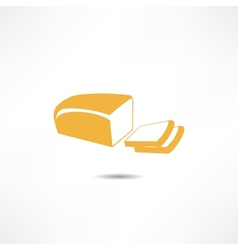Loaf of bread icon vector