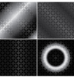 Monochrome metallic patterns - set vector