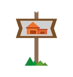 Real estate cottage housing sign vector